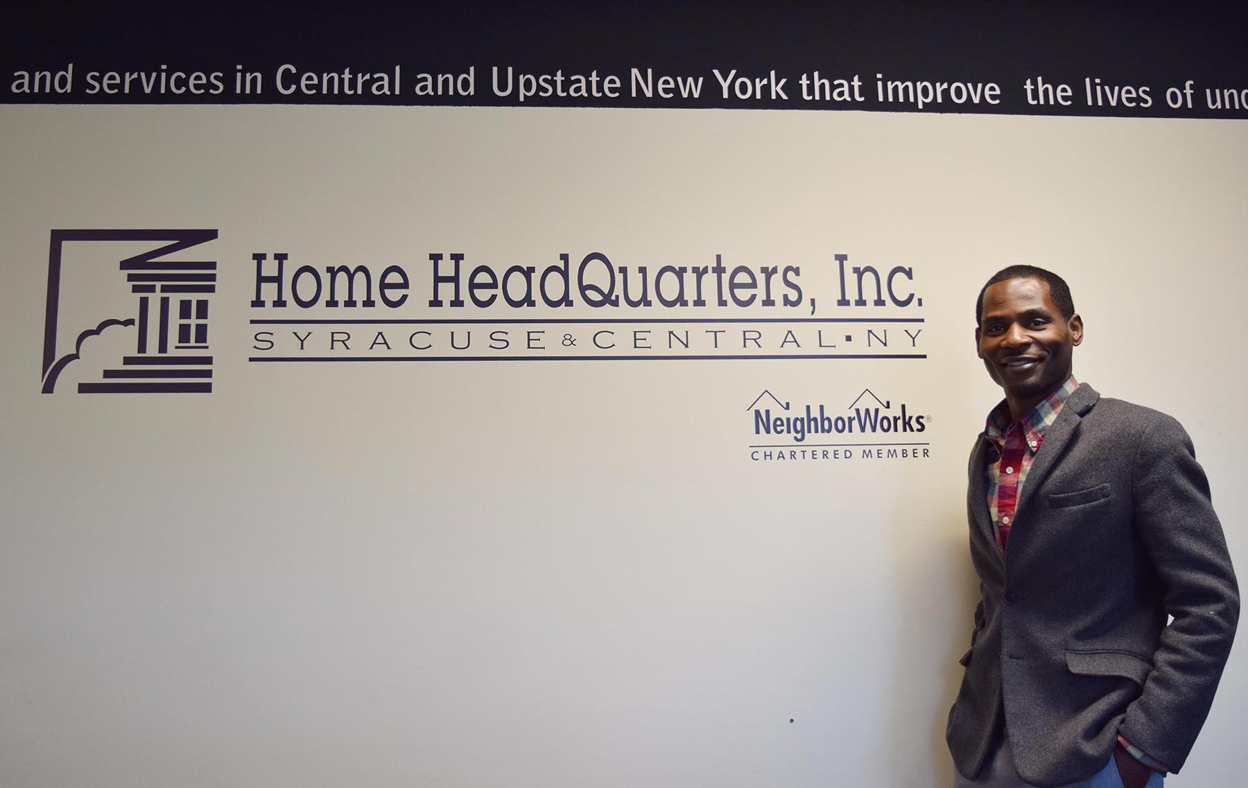 Rickey Brown at his Home HeadQuarters office on James Street in Syracuse